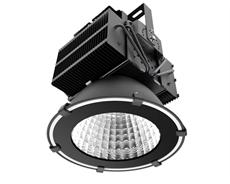 LED industriarmatur Pro 400W 230V IP65 Svart, Driftsäker LED industriarmatur med flimmerfritt ljus. För 10-12m takhöjd. 5 års garanti.