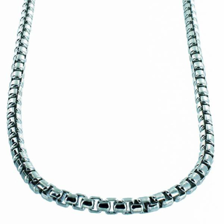 Halsband .925 Sterling Silver 3,5mm Half Round Box Chain Necklace