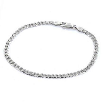 Armband Sterling silver Pansarlänk 4mm