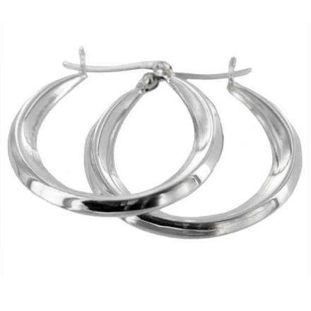 Örhängen Kreoler äkta Silver (28x33mm)