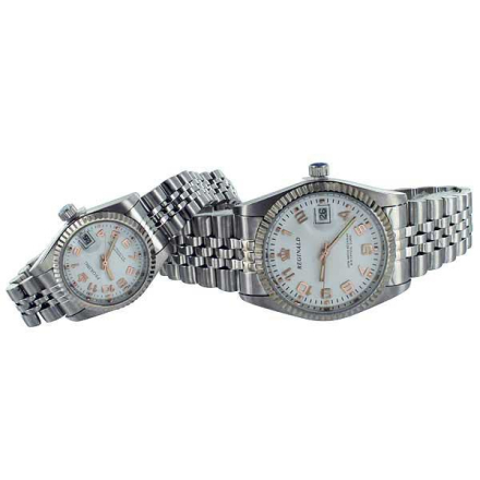 Klocka Crown White Face Numbers Male n Female Stainless Steel Watches