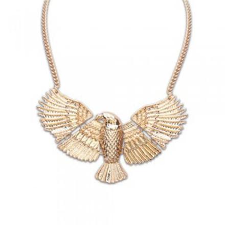 Halsband antik guld örn