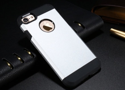 Praktiskt Armor Hybrid Skal till iPhone 7 från FLOVEME SILVER