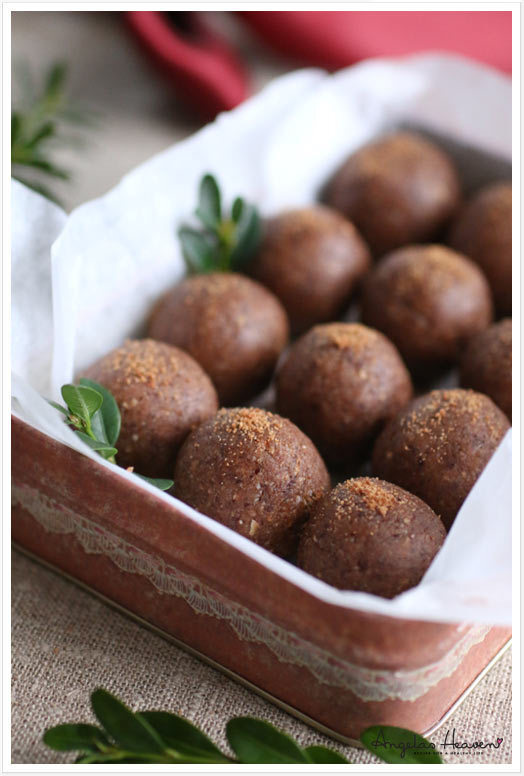 Raw pepparkaksbollar (glutenfria)