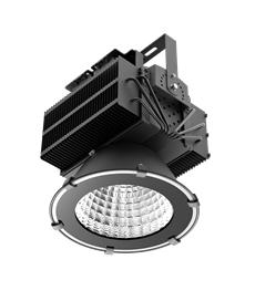 LED industriarmatur Pro 500W 230V IP65 Svart, Driftsäker LED industriarmatur med flimmerfritt ljus. För takhöjder över 12m. 5 års garanti.