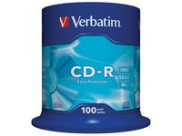 CD-R VERBATIM 700MB 100/​FP