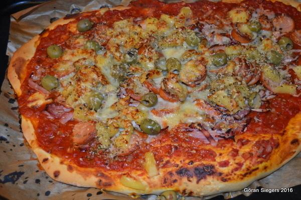 Festpizza med oliver