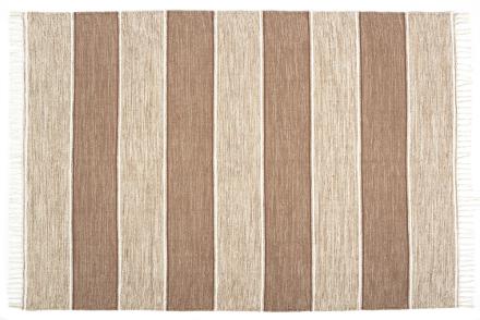 Trasmatta Randig Beige - Beige - 160x230 cm