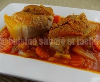 recettes de rouelle de porc aux carottes en cocotte mytaste. Black Bedroom Furniture Sets. Home Design Ideas