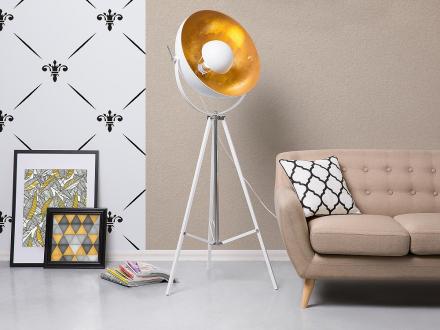 Modern golvlampa vit - stående lampa - belysning - THAMES II