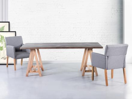 Matbord grå - 200x100cm - matsalsbord - MOORE