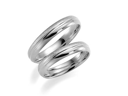Förlovningsring 18k vitguld Romans 255-4 - 45