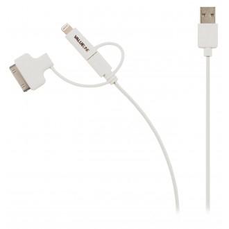 Valueline Synkroniserings- och laddningskabel USB 2.0 A hane- Micro
