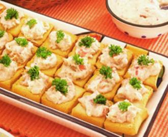 Pate de sardinha com maionese