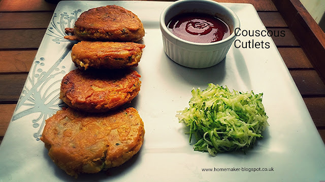 Couscous and Vegetable Cutlets