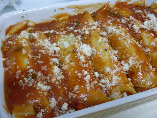 Canelones hechos con crepes (panqueques)!!!