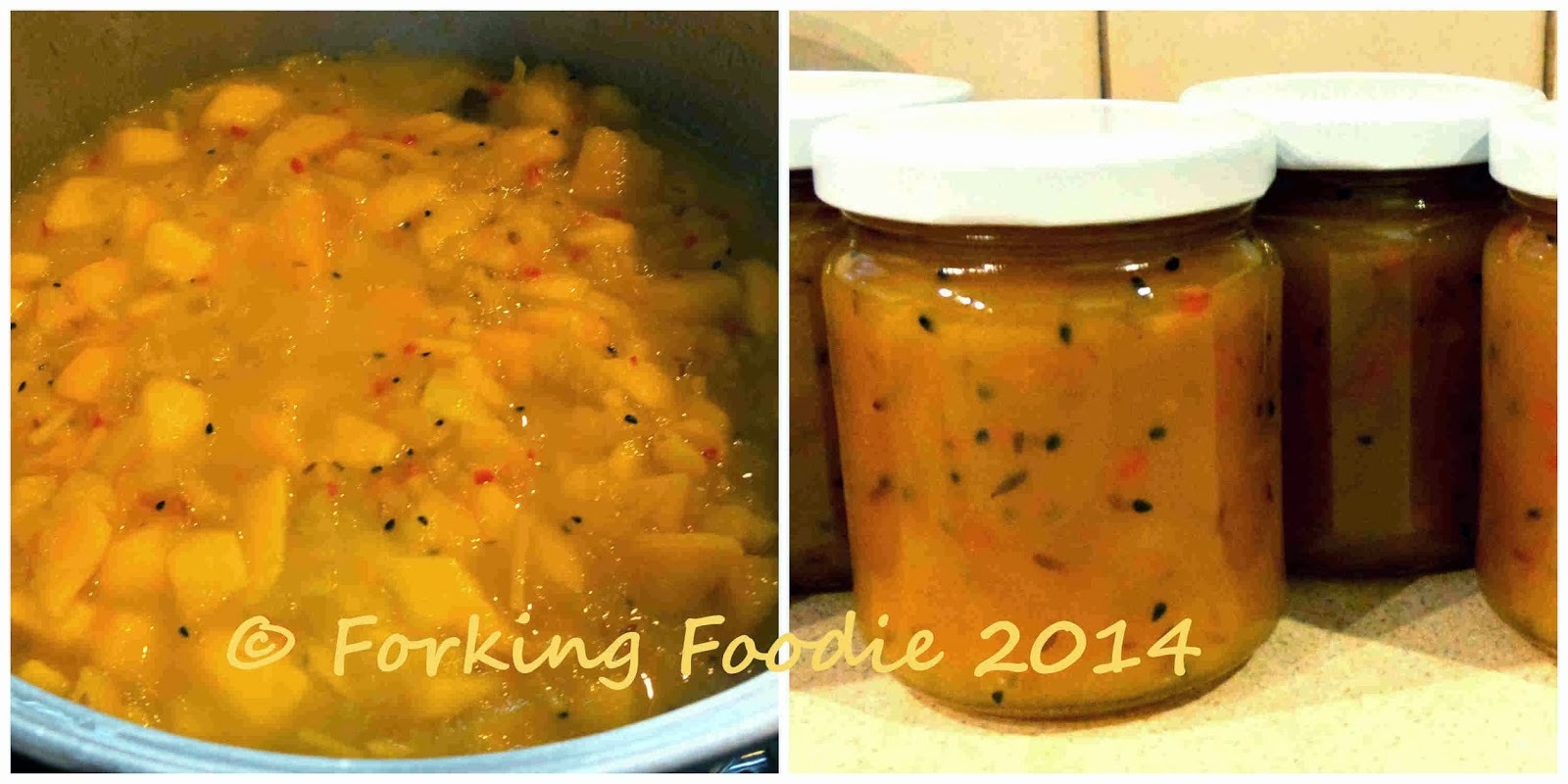 Aromatic Spiced Mango and Apple Chutney