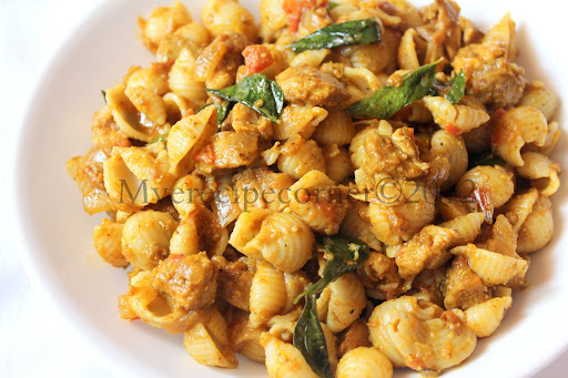 Indian style Chicken Pasta Recipe