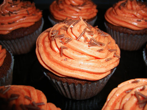 Cupcakes de Chocolate com duas Decoracoes