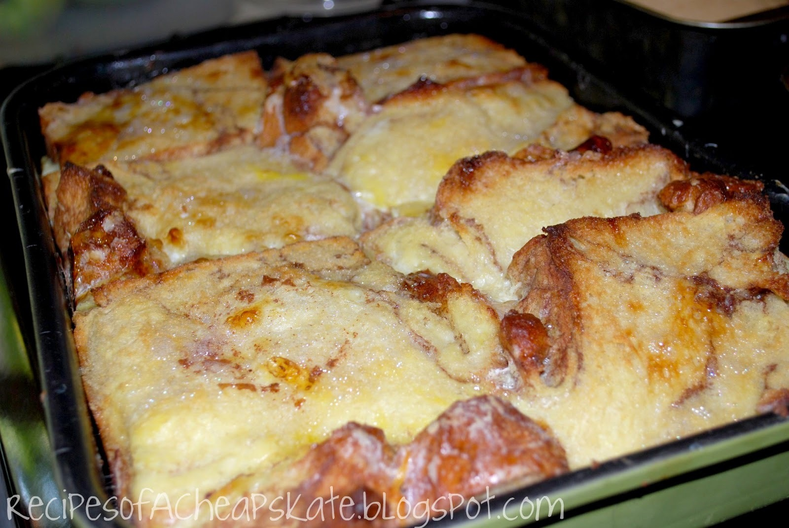 Chunky Cinnamon Baked French Toast