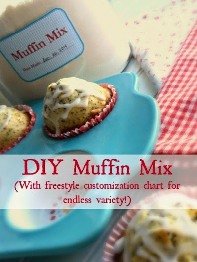 DIY MUFFIN MIX (with freestyle chart of add-in options): The frugal farm girl's ready-made mix series.