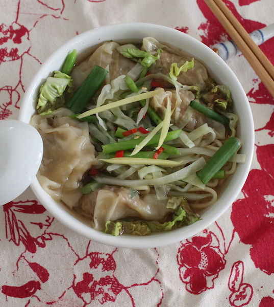 Pork Prawn Wonton Soup #SundaySupper
