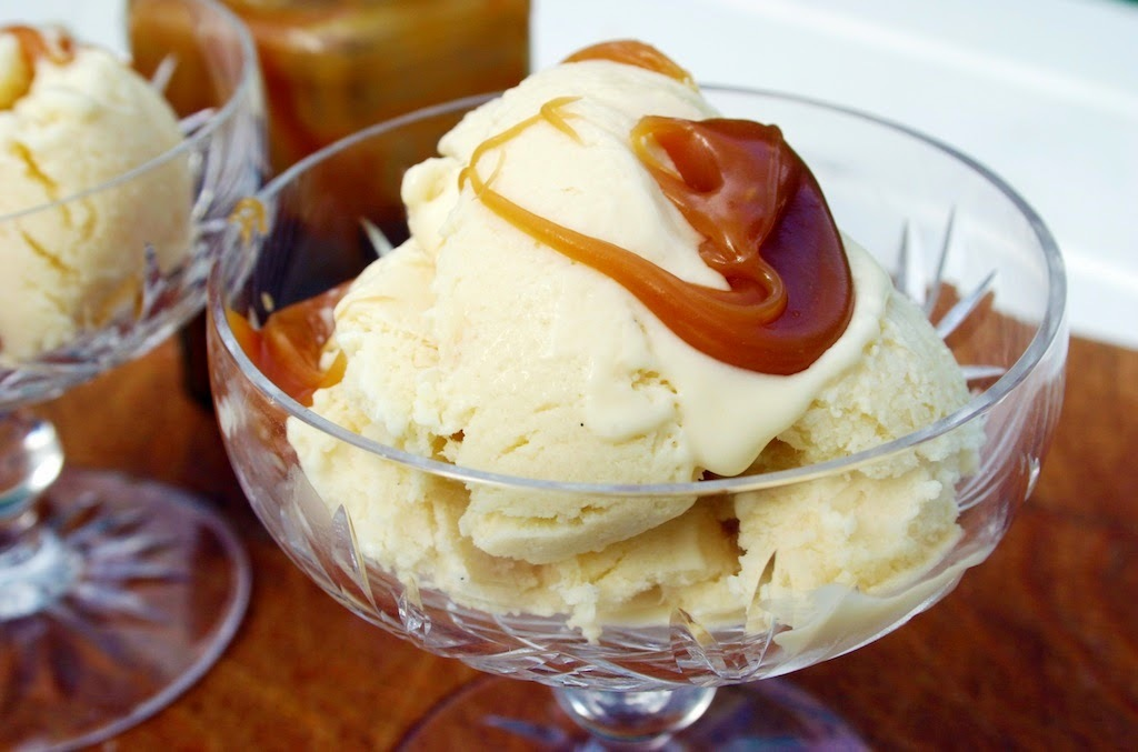 salted caramel custard ice cream - a random recipe
