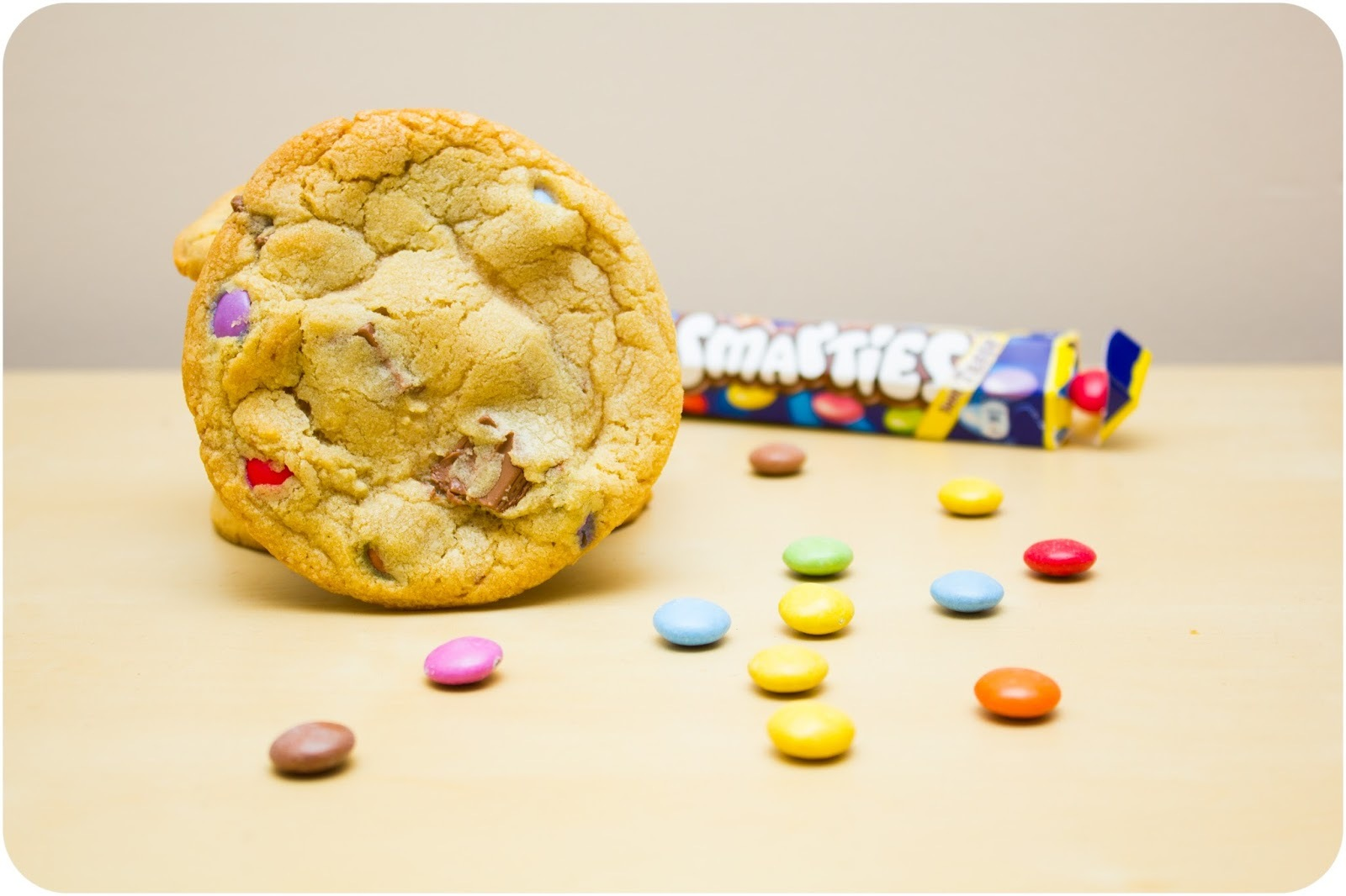 Smarties & Chocolate Chunk Cookies