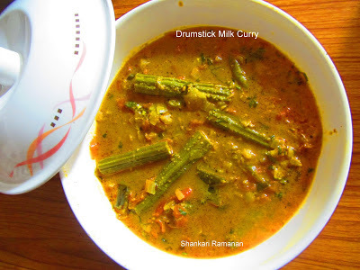 DRUMSTICK MILK CURRY: GUEST POST BY SHANKARI RAMANAN
