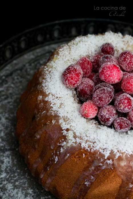 Cranberries and coconut bundt cake #BundtBakers