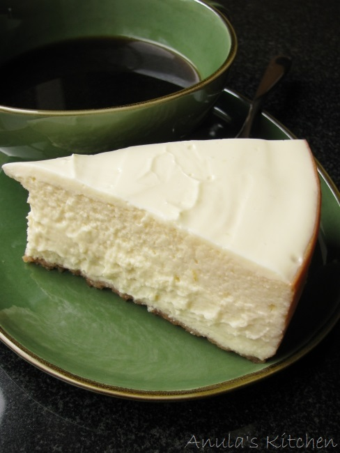 Classic New York style cheesecake... recipe by Anna Olson.