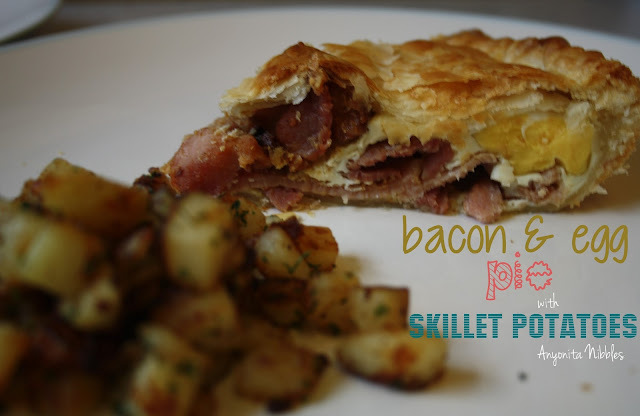 Bacon & Egg Pie with Skillet Potatoes + #GetHimFed 4
