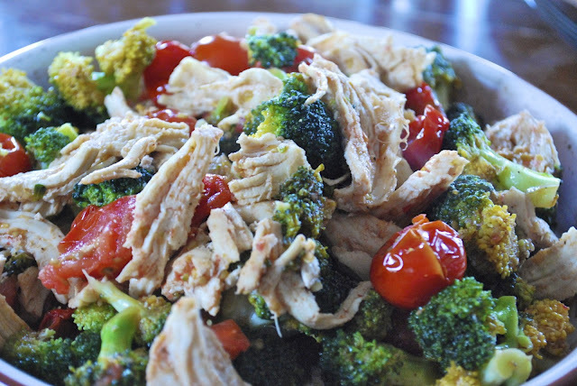 Chicken, Tomato and Broccoli Stir-Fry Salad