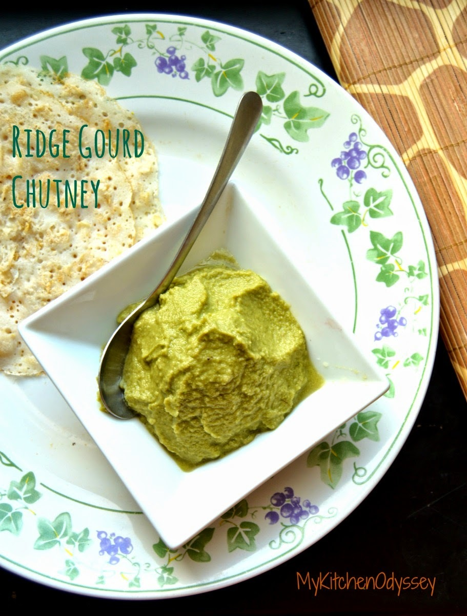 Ridge Gourd - Peerkangai Thogayal | South Indian Chutney Recipes