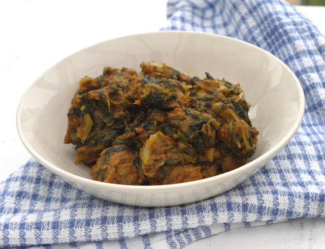 Lamb Spinach Curry - Gosht Palak.