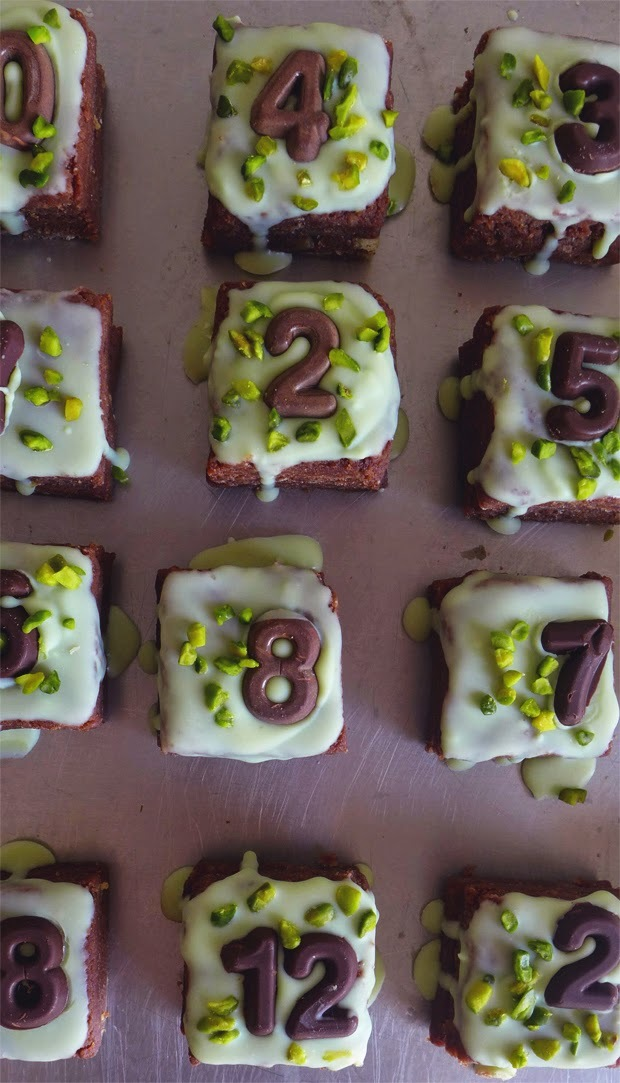 Bolos com números/ Little cakes with numbers