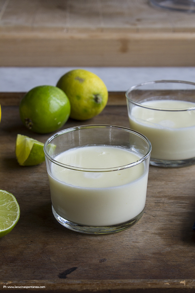 Lemon and lime posset