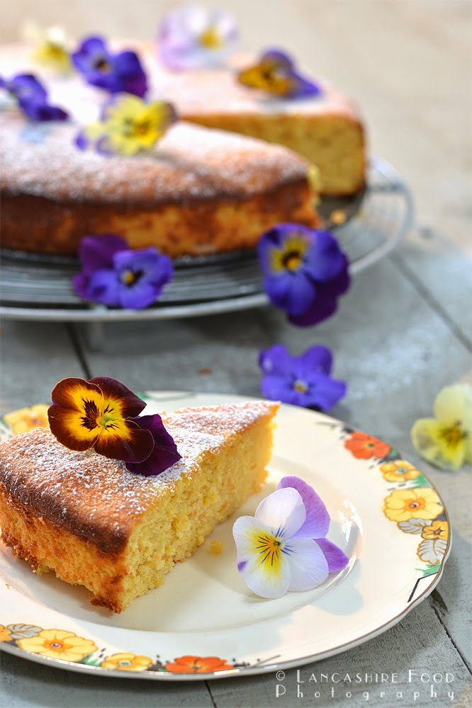 Blood orange, lemon and almond cake