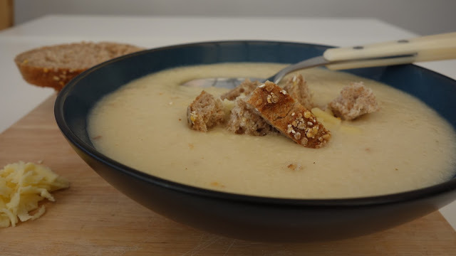 Cauliflower cheddar cheese soup