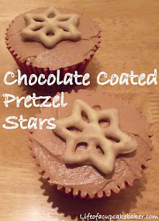 Chocolate Coated Pretzel Stars