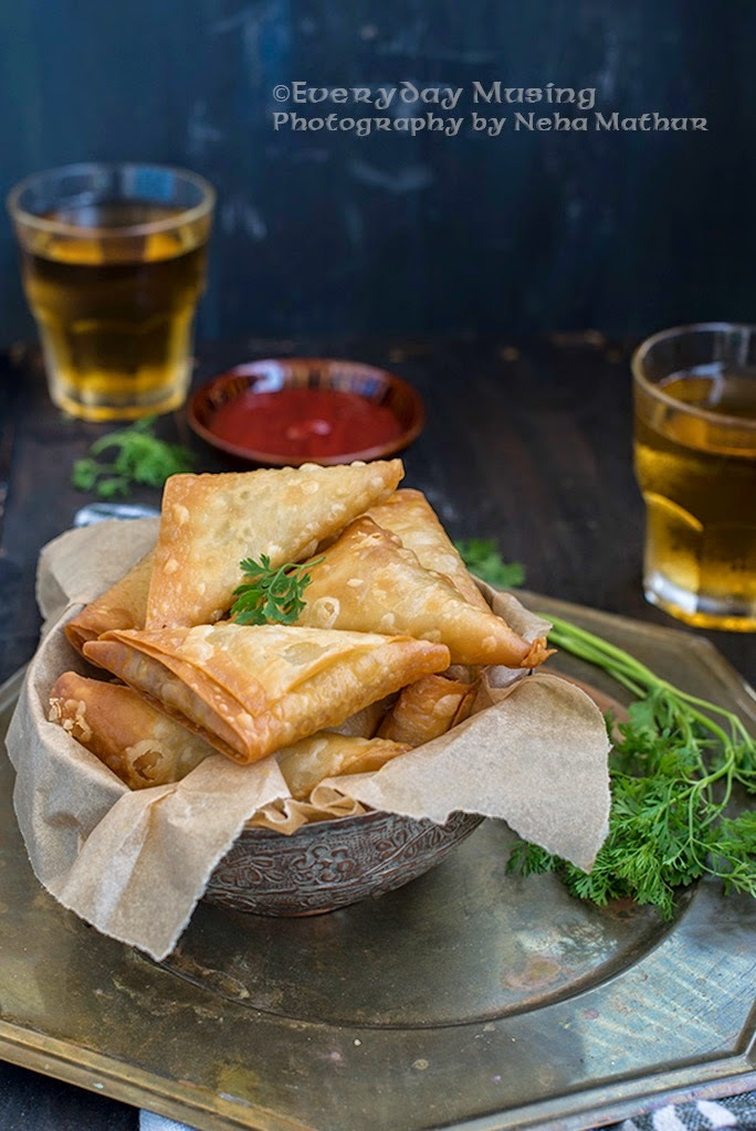 Chicken and Cheese Samosa