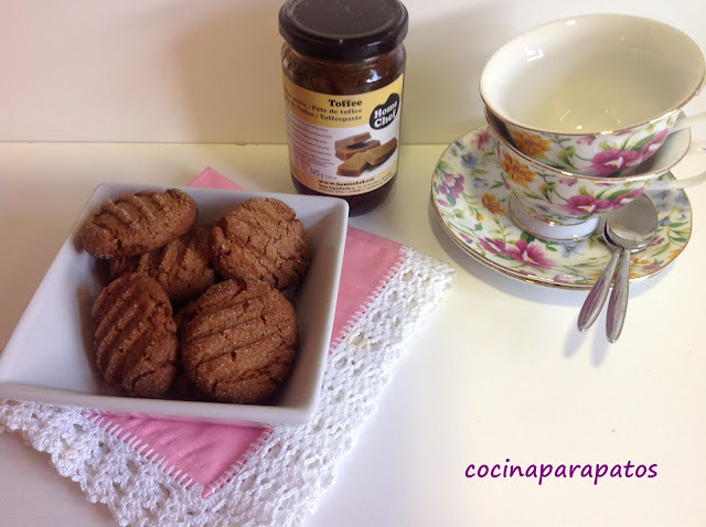 GALLETAS DE MANTEQUILLA CON TOFFEE (Thermomix)