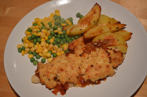 Midweek Meals: Cheese & Onion Rarebit Topped Fish