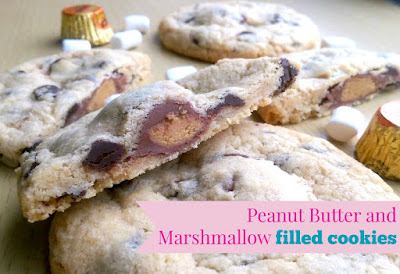 Peanut Butter and Marshmallow Cookies