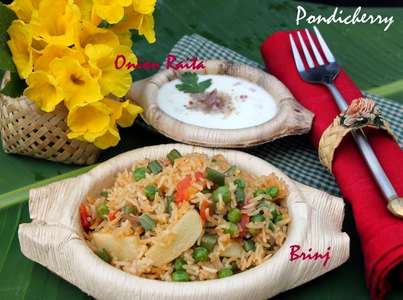 Brinj with Onion Raita - Pondicherry Special