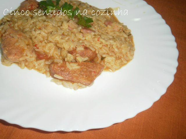 Arroz de carne com bacon