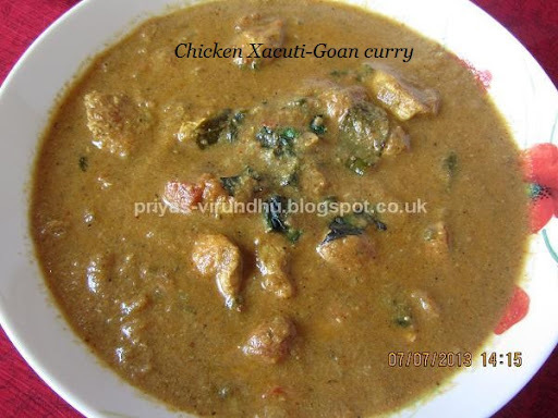 Chicken Xacuti - Goan Curry