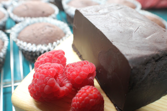 Dark Chocolate Cupcake and Raspberry Cream Cheese Frosting