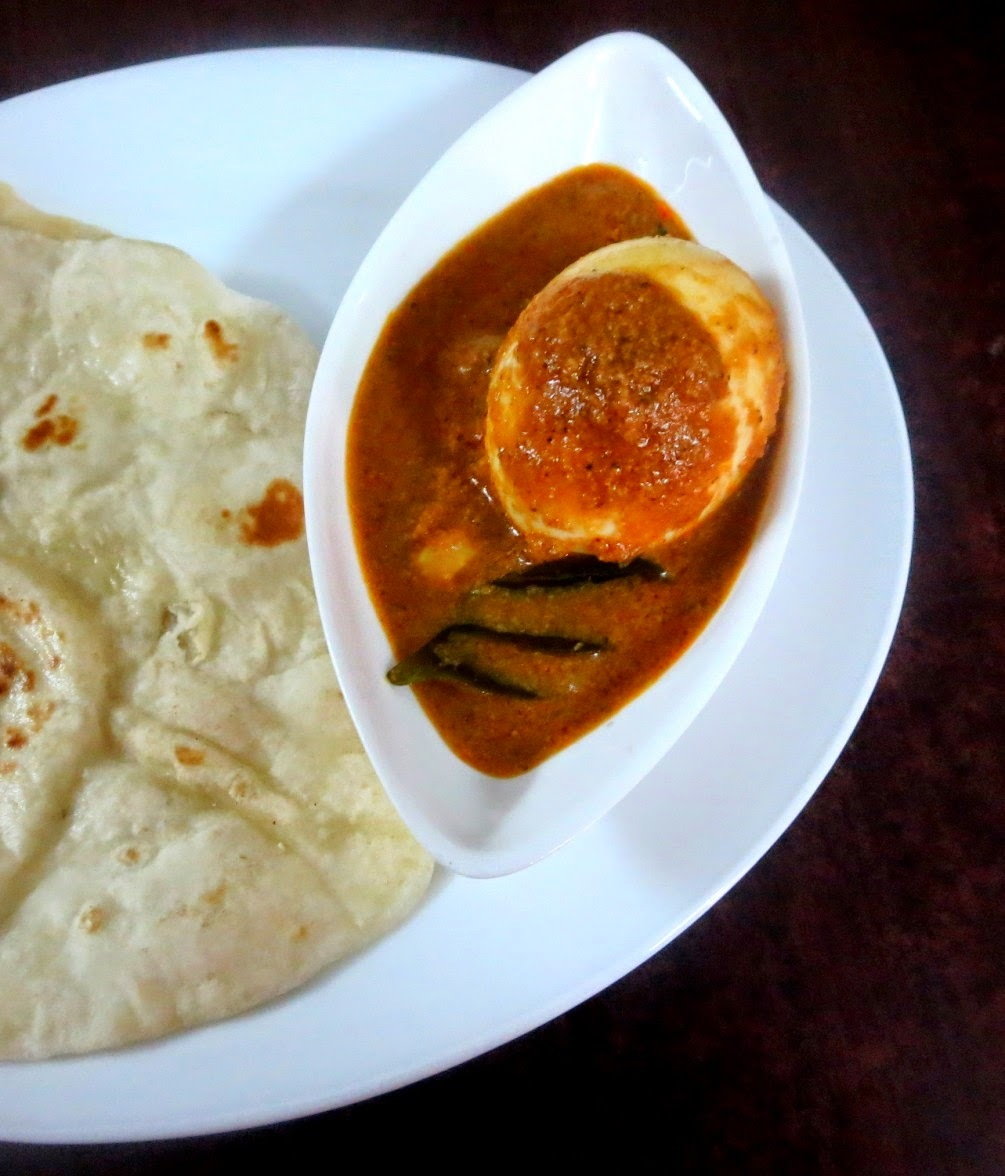 Egg Kolhapuri Recipe ~ Side Dish for Chapati