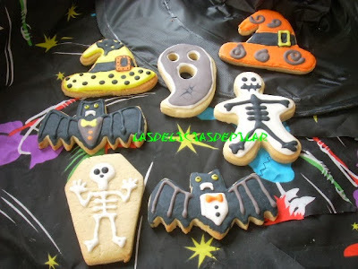 Mis 1º galletas decoradas para Hallowen